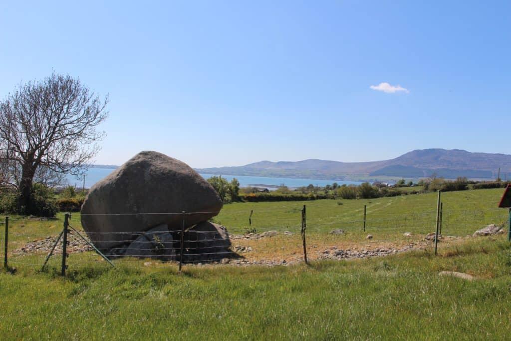 Kilfeaghan Dolmen overlooking Carlingford Lough