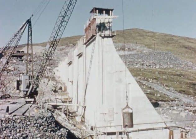 Construction of Spelga Dam 1