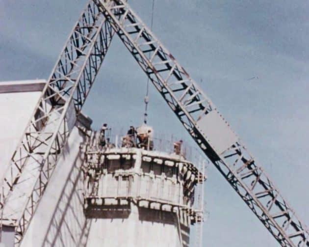 Construction of Spelga Dam 2