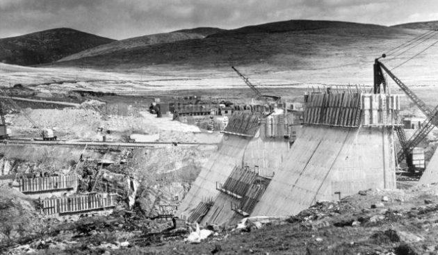 Construction of Spelga Dam 4