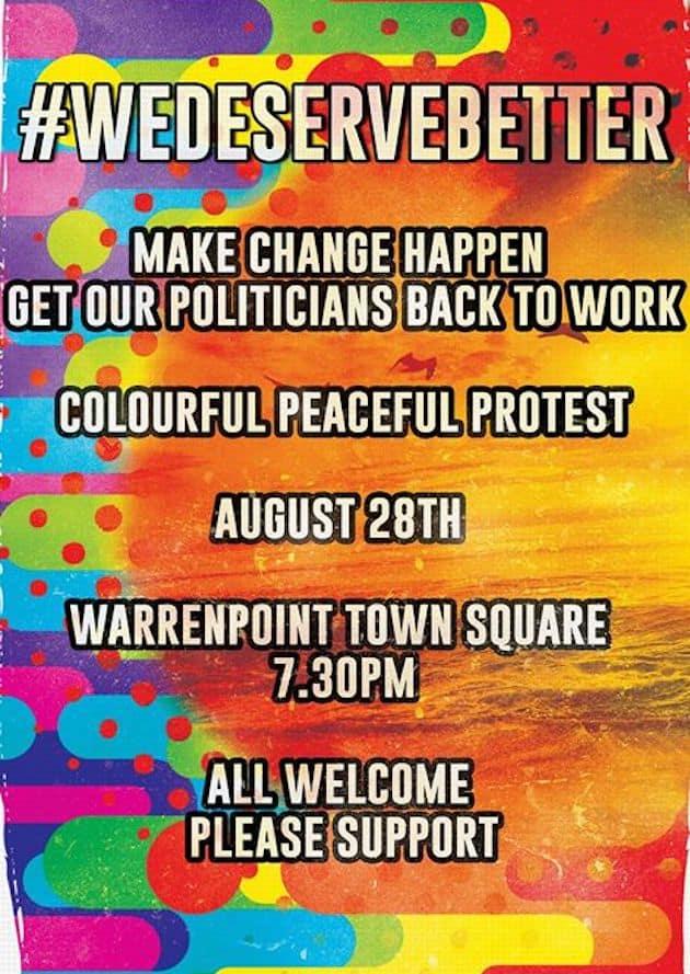 We deserve Better Warrenpoint Protest