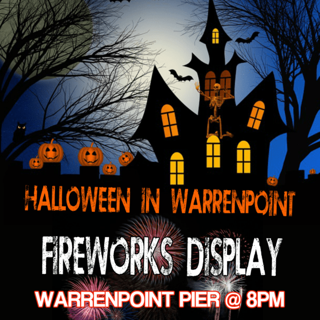 Halloween night in Warrenpoint 2018