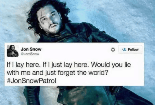 game of Thrones Meme Jon Snow Patrol