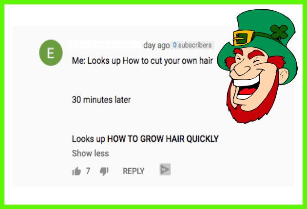 Irish Meme Cut your own Hair Searches Corona Virus Lockdown